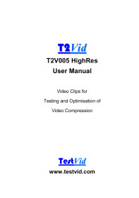 T2V005 HighRes user manual extract